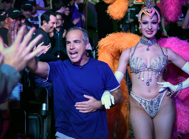 Cliff Josephy of N.Y. is celebrates with supports as he escorted in for the final table of the Main Event at the World Series of Poker at the Rio hotel-casino, Sunday, Oct. 30, 2016, in Las Vegas. ...