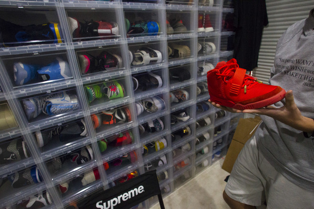 c5e42ecd1a2 Sixteen-year-old Blake Wynn holds his Nike Air Yeezy 2 Red October shoes