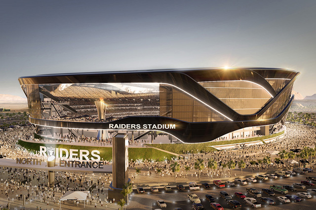 Clark County commissioners voted Tuesday, Nov. 15, 2016, for two hotel room tax increases to fund the the construction of a 65,000-seat stadium. (MANICA Architecture)
