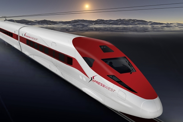 A representative of XpressWest gave the Nevada High Speed Rail Authority an update on plans to build a line between Las Vegas and Southern California, Wednesday, Nov. 9, 2016. (XpressWest)