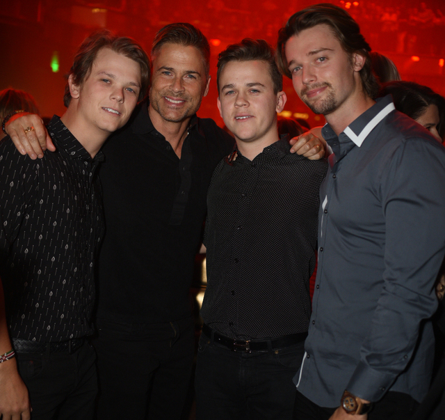 A Guest Rob Lowe John Owen And Patrick Schwarzenegger Celebrate The 21st Birthday