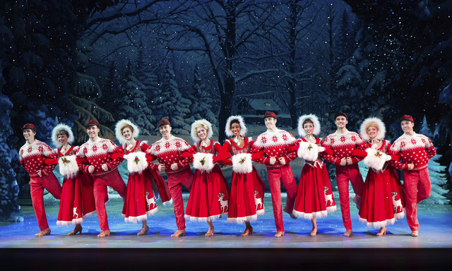 "The ""White Christmas"" chorus line taps in the musical's snowy finale. JEREMY DANIEL/COURTESY THE SMITH CENTER FOR THE PERFORMING ARTS"
