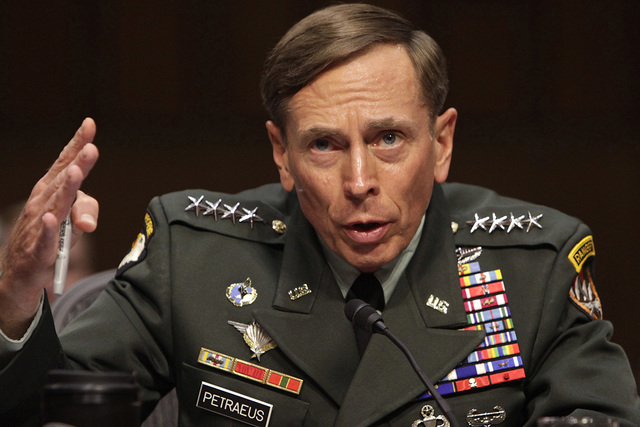 Gen. David Petraeus gestures during the Senate Intelligence Committee hearing on his nomination to be director of the Central Intelligence Agency in Washington, June 23, 2011. (Yuri Gripas/Reuters)