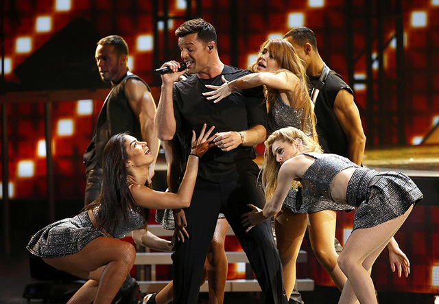 "Ricky Martin performs ""La Mordidita"" during the 2015 Latin Grammy Awards on Nov. 19, 2015, in Las Vegas. (Mario Anzuoni/Reuters)"