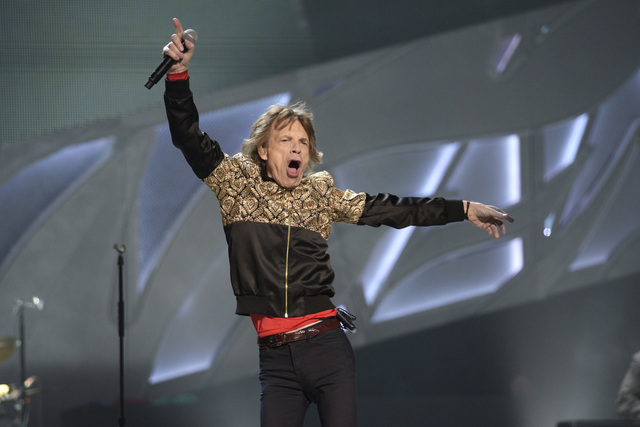 Mick Jagger of the Rolling Stones performs Oct. 22 at T-Mobile Arena. (Sam Morris/Las Vegas News Bureau)