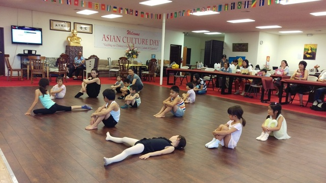 Children practice their dancing at the Asian Cultural Center, 928 S. Valley View Blvd., on Aug. 23. Courtesy of Cavin Fung.