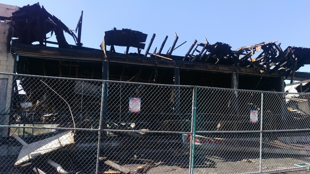 The charred Asian Cultural Center, 928 S. Valley View Blvd., is seen Oct. 9, one day after the fire that burned the building down. Courtesy of Cavin Fung.