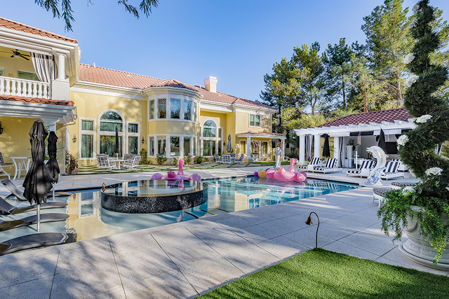 Strip entertainer Frank Marino and his partner Alex Schechter purchased this Eagle Hills, Summerlin for $2 million in 2014. They spent two years and $4 million remodeling it. (David Reisman/Real E ...