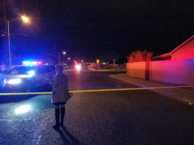 Las Vegas police are investigating a homicide that took place Sunday in the northeast valley. (Mike Shoro/Las Vegas Review-Journal)