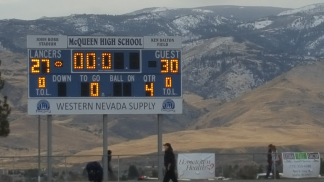Liberty defeats Damonte Ranch 30-27 in the Class 4A state semifinals Saturday at McQueen High in Reno.