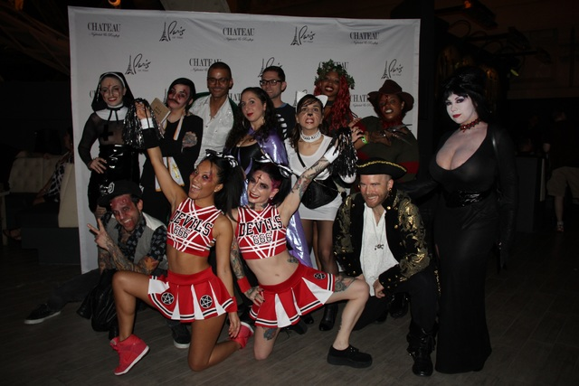 The Wicked Halloween Ball at Chateau Nightclub & Rooftop hosted by Asa Akira and Joanna Angel on Monday, Oct. 31, 2016, in Las Vegas. (Joey Olvera)