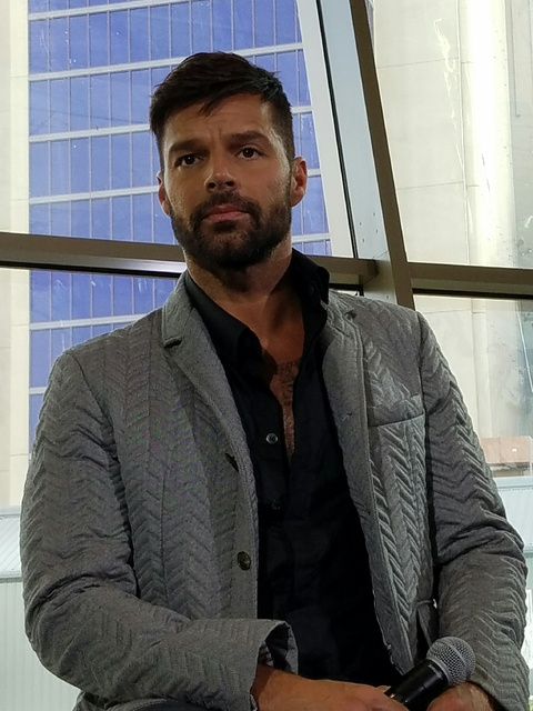 Ricky Martin appears at the under-construction The Park Theater at Monte Carlo on Wednesday, Nov. 16, 2016, in Las Vegas. (TVT)