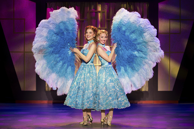 """Sisters"" Betty and Judy Haynes (Kerry Conte, Kelly Sheehan) sing of their devotion in ""White Christmas."" JEREMY DANIEL/COURTESY THE SMITH CENTER FOR THE PERFORMING ARTS"