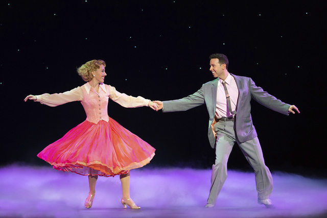 "Judy Haynes (Kelly Sheehan) and Phil Davis discover ""The Best Things Happen While You're Dancing"" in ""White Christmas."" JEREMY DANIEL/COURTESY THE SMITH CENTER FOR THE PERFORMING ARTS"