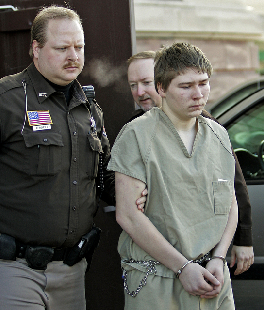 """Brendan Dassey, is escorted out of a Manitowoc County Circuit courtroom in Manitowoc, Wis. Dassey, whose homicide conviction was overturned in a case profiled in the Netflix series """"Making a Murde ..."""