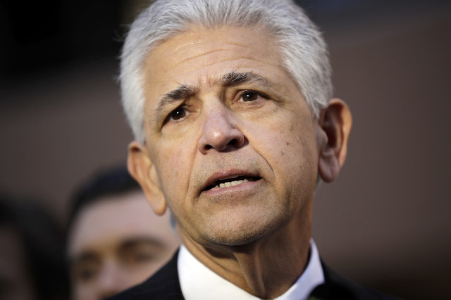 Daniel Petrocelli, lead attorney for President-elect Donald Trump speaks after a hearing involving a lawsuit against the now-defunct Trump University Friday, Nov. 18, 2016, in San Diego. Trump agr ...