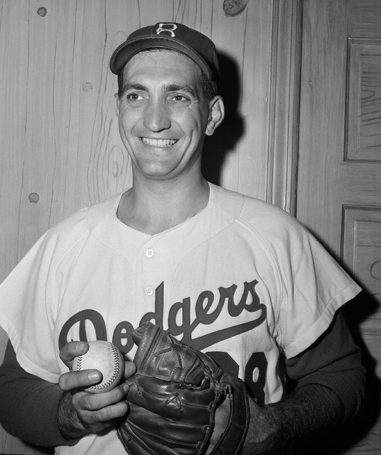 """FILE - This is a Sept. 2, 1956, file photo showing Brooklyn Dodgers pitcher Ralph Branca. Branca, the Dodgers pitcher who gave up the home run dubbed the """"Shot Heard 'Round the World,&amp ..."""