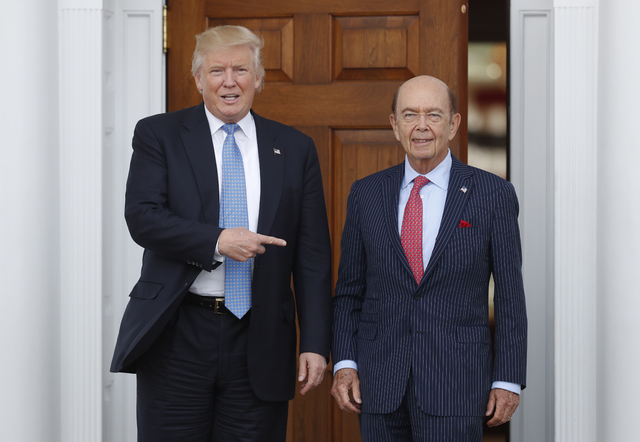 President-elect Donald Trump is poised to offer the position of commerce secretary to the head of a private-equity firm, Wilbur Ross. (Carolyn Kaster/AP)