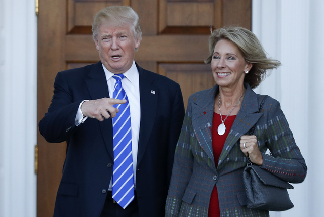 President-elect Donald Trump selected Betsy DeVos as Education Secretary. (AP Photo/Carolyn Kaster, File)