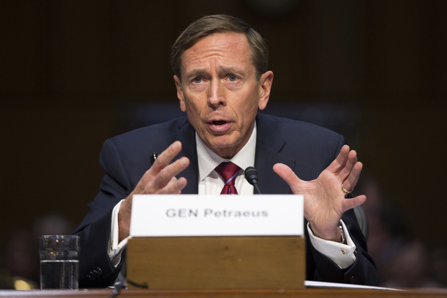 David Petraeus testifies on Capitol Hill in Washington, Sept. 22, 2015. (Evan Vucci/AP)