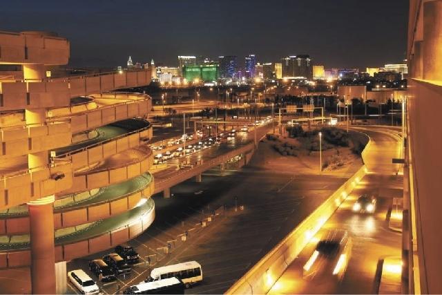 Las Vegas Strip as seen at McCarran International Airport parking garage. (Las Vegas Review-Journal file)