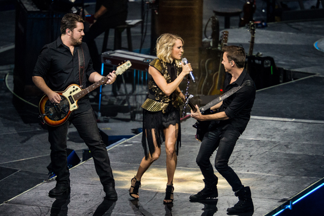 Carrie Underwood performs during The Storyteller Tour at Madison Square Garden on Tuesday, Oct. 25, 2016, in New York. (Michael ZornInvision/AP)