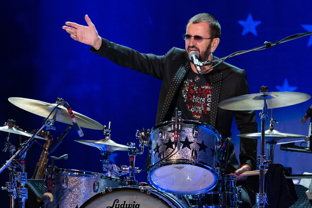 Ringo Starr performs at The Greek Theatre on Saturday, July 2, 2016, in Los Angeles. (John Salangsang/Invision/AP)