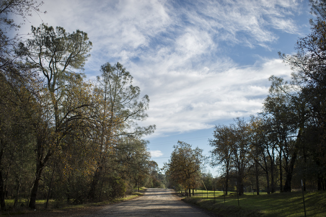 This photo shows Sunrise Drive, the last known location where Sherri Papini, 34, is believed to have gone missing in Mountain Gate, Calif.  (Andrew Seng/The Sacramento Bee via AP)