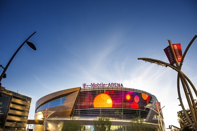 T-Mobile Arena is seen on Wednesday, March 23, 2016. (Jeff Scheid/Las Vegas Review-Journal Follow @jlscheid)