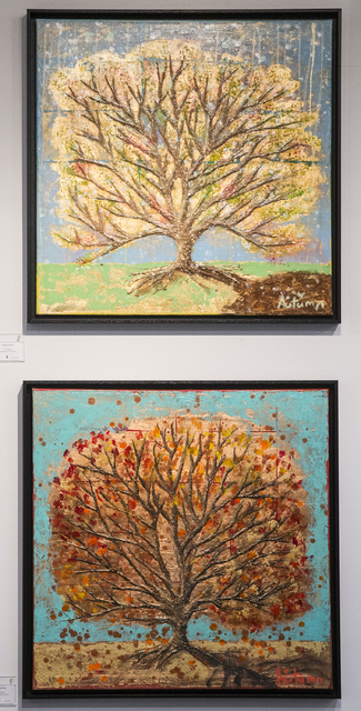 Paintings depicts changing seasons by Autumn de Forest  hang in the Gallery of Music & Art  on Monday, Nov. 7, 2016, in Las Vegas.  Benjamin Hager/Las Vegas Review-Journal
