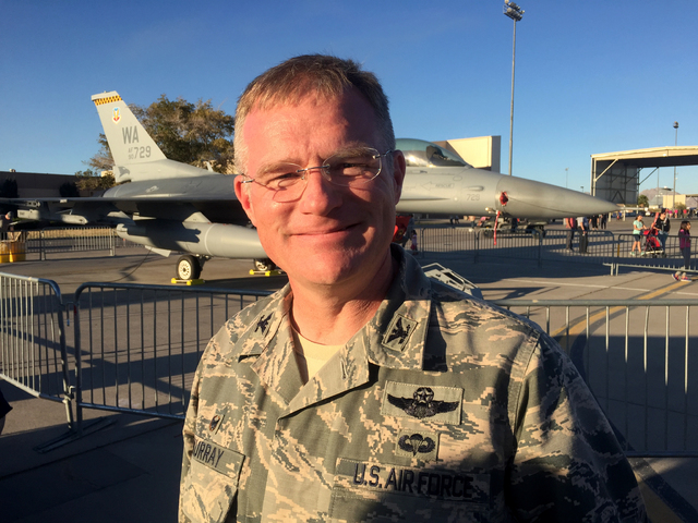 "Col. Paul Murray, commander of the 99th Air Base Wing at Nellis Air Force Base, says this weekend's Aviation Nation air show is ""a way of saying 'Thank You' to the Las Vegas community.&am ..."