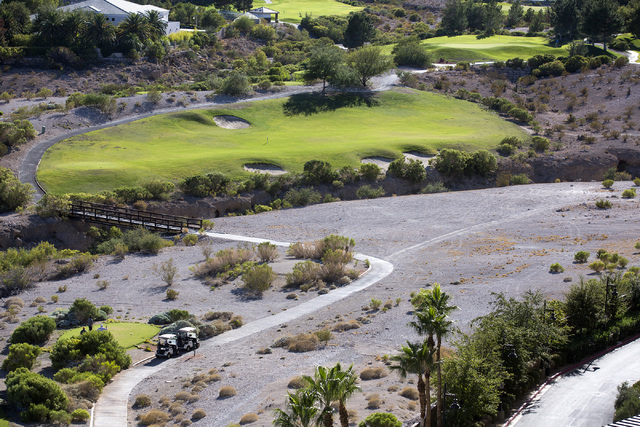A view Badlands Golf Course near Rampart Boulevard is seen from Queeenridge Towers on Tuesday, Oct. 11, 2016.  The Las Vegas Planning Commission is expected to take up the controversial, high-dens ...