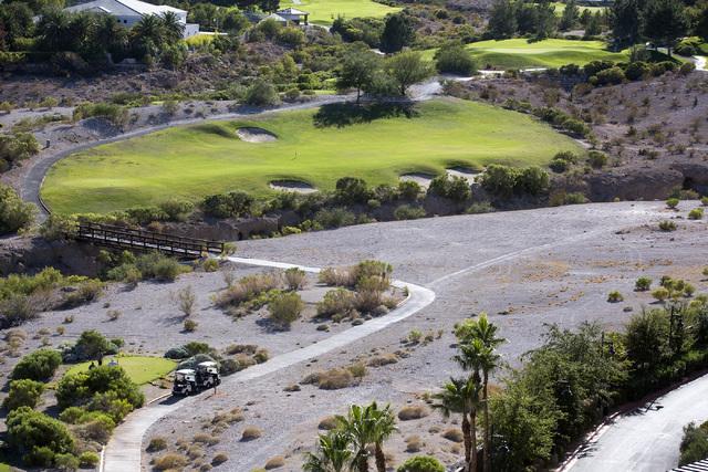 A view Badlands Golf Course near Rampart Boulevard is seen from Queeenridge Towers on Tuesday, Oct. 11, 2016.  Jeff Scheid/Las Vegas Review-Journal Follow @jlscheid