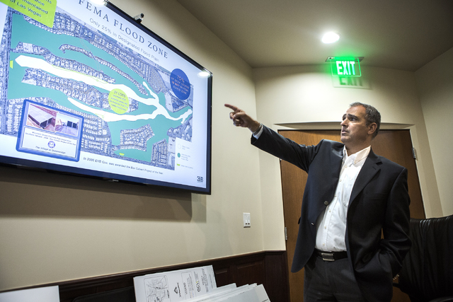Developer Yohan Lowie with EHB Companies discusses his proposed large-scale and controversial development for the Badlands Golf Course in his office on Friday, Oct. 21, 2016. Jeff Scheid/Las Vegas ...