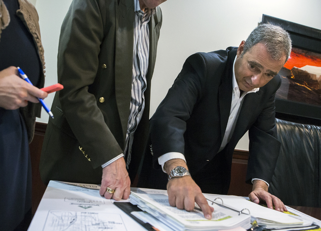 Developer Yohan Lowie with EHB Companies discusses land zoning on his proposed large-scale and controversial development for the Badlands Golf Course on Friday, Oct. 21, 2016. Jeff Scheid/Las Vega ...