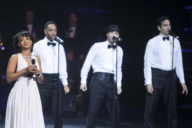 Reva Rice, left, performs during the Best of Las Vegas Show at The Venetian Las Vegas hotel-casino on Saturday, Nov. 5, 2016. Loren Townsley/Las Vegas Review-Journal Follow @lorentownsley