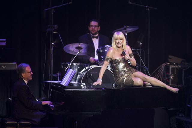 Suzanne Somers performs during the Best of Las Vegas Show at The Venetian Las Vegas hotel-casino on Saturday, Nov. 5, 2016. Loren Townsley/Las Vegas Review-Journal Follow @lorentownsley