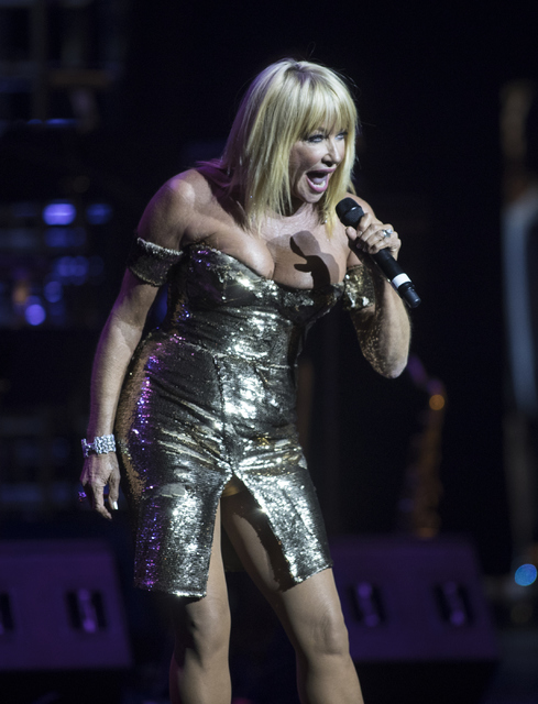 Suzanne Somers performs during the Best of Las Vegas Show at The Venetian Las Vegas hotel-casino on Saturday, Nov. 5, 2016. Loren Townsley/Las Vegas Review-Journal Follow @lorentownsley