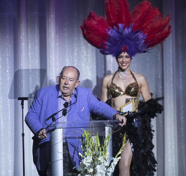 Robin Leach speaks during the Best of Las Vegas Show at The Venetian Las Vegas hotel-casino on Saturday, Nov. 5, 2016. Loren Townsley/Las Vegas Review-Journal Follow @lorentownsley