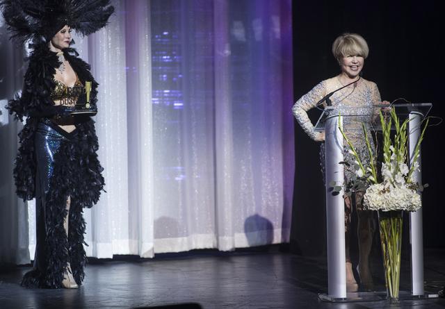 Pia Zadora speaks during the Best of Las Vegas Show at The Venetian Las Vegas hotel-casino on Saturday, Nov. 5, 2016. Loren Townsley/Las Vegas Review-Journal Follow @lorentownsley