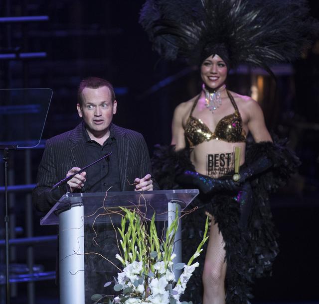Nathan Burton speaks during the Best of Las Vegas Show at The Venetian Las Vegas hotel-casino on Saturday, Nov. 5, 2016. Loren Townsley/Las Vegas Review-Journal Follow @lorentownsley