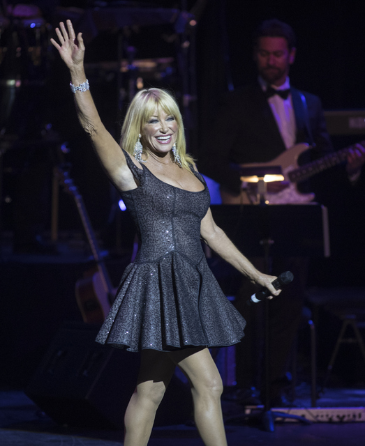 Suzanne Somers walks on stage during the Best of Las Vegas Show at The Venetian Las Vegas hotel-casino on Saturday, Nov. 5, 2016. Loren Townsley/Las Vegas Review-Journal Follow @lorentownsley