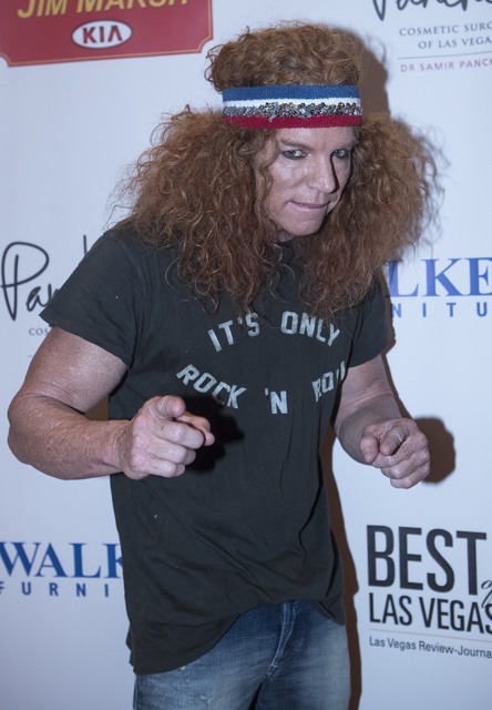 Carrot Top walks on the red carpet before the Best of Las Vegas Show at The Venetian Las Vegas hotel-casino on Saturday, Nov. 5, 2016. Loren Townsley/Las Vegas Review-Journal Follow @lorentownsley