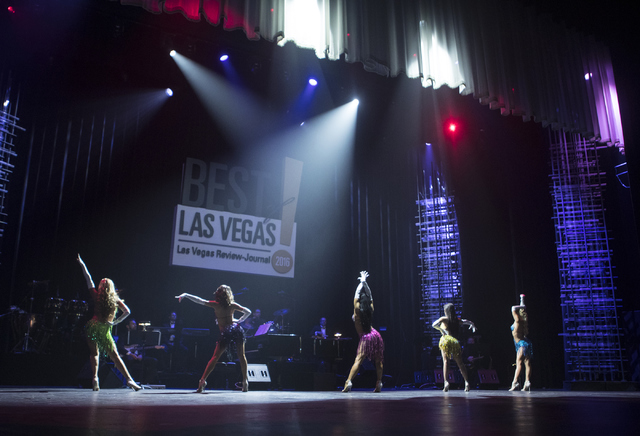 SEXXY The Show dancers perform during the Best of Las Vegas Show at The Venetian Las Vegas hotel-casino on Saturday, Nov. 5, 2016. Loren Townsley/Las Vegas Review-Journal Follow @lorentownsley