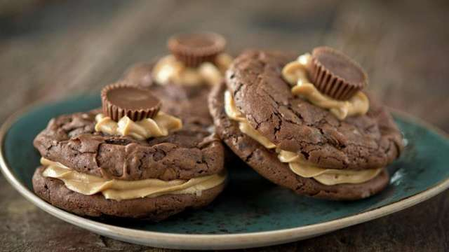 Chocolate Reese Cookie Sandwiches (courtesy Hershey's Chocolate World)