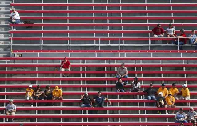 UNLV fans arrive for a football game against Wyoming at Sam Boyd Stadium in Las Vegas on Saturday, Nov. 12, 2016. (Chase Stevens/Las Vegas Review-Journal) Follow @csstevensphoto