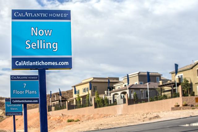 Model homes for sale at Lake Las Vegas on Friday, Oct. 15, 2016, in Henderson. (Benjamin Hager/Las Vegas Review-Journal)
