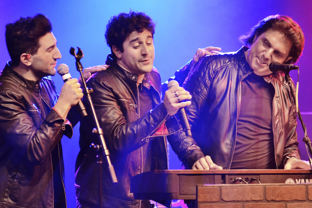 Vinny Adinolfi, right, performs with sons Nicky, left, and Vinny as the Bronx Wanderers at the Windows Showroom at Bally's. Bill Hughes/Las Vegas Review-Journal