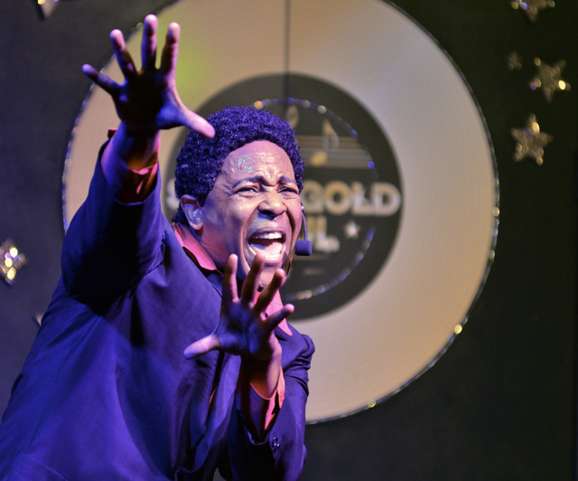 Grady Harrell perfoms as Sam Cooke in Solid Gold Soul in the Windows Showroom at Bally's hotel-casino at 3645 Las Vegas Blvd. South in Las Vegas on Sunday, Oct. 30, 2016. Bill Hughes/Las Vegas Rev ...