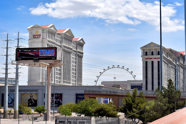 Caesars Palace hotel-casino is seen on Tuesday, May 12, 2015, in Las Vegas. (David Becker/Las Vegas Review-Journal)